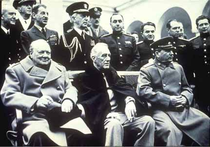 Churchill,, Roosevelt và Stalin