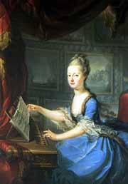 Marie-Antoinette,  Wagenschon vẽ sau đám cưới của bà, năm 1770
