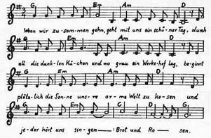 Bài hát sáng tác năm 1912 với  cuộc đình công của 14.000 người chống lại lương đói khát và bắt trẻ em làm việc
