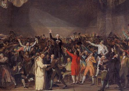 Le serment du Jeu de Paume, par David (Paris,  musée Carnavalet)
